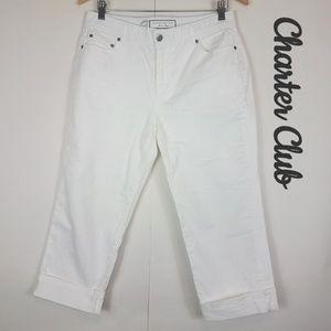 Charter Club white comfort waist classic capri 10